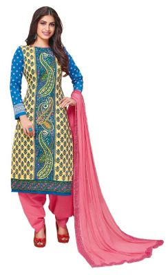 Buy Padmini Unstitched Printed Cotton Dress Material (product Code - Dtkakashish2507) online