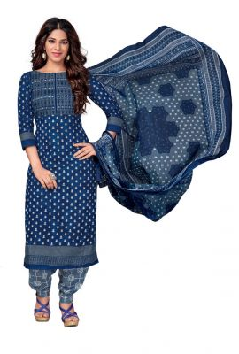 Buy Padmini Unstitched Printed Cotton Dress Material (code - Dtkasmit5502) online