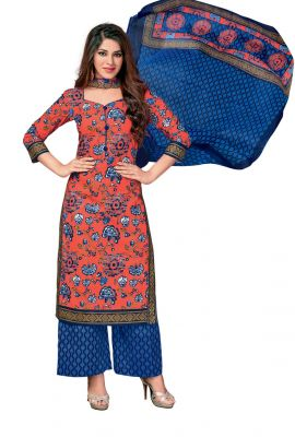 Buy Padmini Unstitched Printed Cotton Dress Material (code - Dtkasmit5504) online