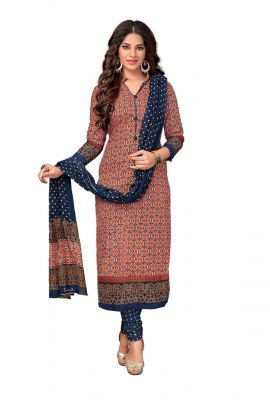 Buy Padmini Unstitched Printed Cotton Dress Material (code - Dtkasmit5514) online