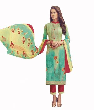 Buy Padmini Unstitched Printed Cotton Dress Material online