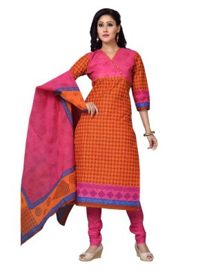 Buy Padmini Unstitched Printed Cotton Dress Material (product Code - Dtskmadhubala202) online