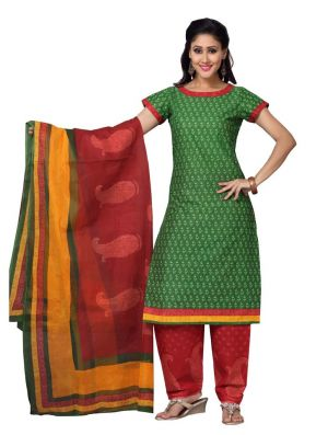 Buy Padmini Unstitched Printed Cotton Dress Material (product Code - Dtskmadhubala203) online