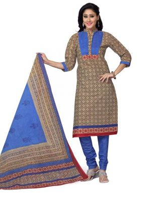 Buy Padmini Unstitched Printed Cotton Dress Material (product Code - Dtskmadhubala206) online