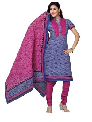 Buy Padmini Unstitched Printed Cotton Dress Material (product Code - Dtskmadhubala209) online