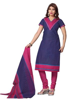 Buy Padmini Unstitched Printed Cotton Dress Material (product Code - Dtskcherry504) online