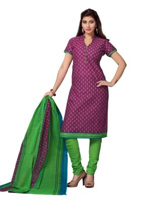Buy Padmini Unstitched Printed Cotton Dress Material (product Code - Dtskcherry506) online