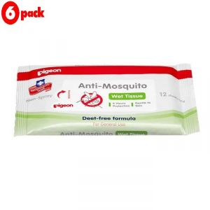 Buy Pigeon Anti Mosquito Wipes - 12pc (pack Of 6) online
