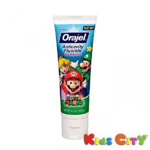 Buy Orajel Antiactivity Fluoride Toothpaste - 119g (4.2oz) Super Mario online