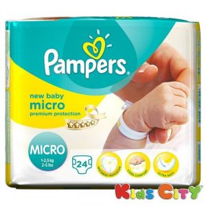 Buy Pampers New Baby Micro Diapers - 24pc (1-2.5kg) online