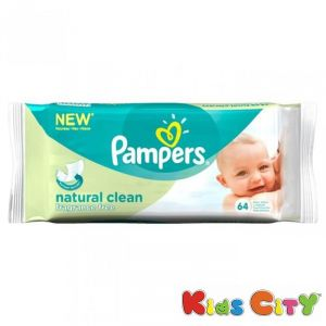 Buy Pampers Baby Wipes 64pc - Natural Clean (imp) online