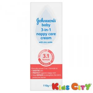 Buy Johnsons Baby 3-in-1 Nappy Care Cream - 110g online