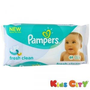 Buy Pampers Baby Wipes 64pc - Fresh Clean (imp) online
