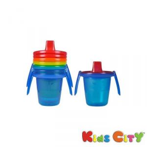 Buy The First Years Take & Toss 4 Spill Proof Cups (6m+) - 7oz (y4421) online