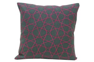 Buy Blueberry Home Cotton Fabric Grey Color Cushion Cover (40x40 Cms) online