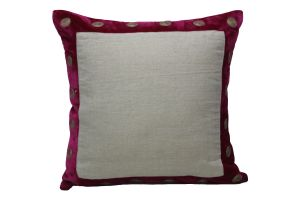 Buy Blueberry Home Linen fabric Pink color Cushion cover online