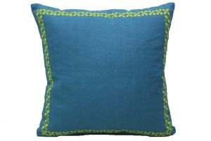 Buy Blueberry Home Linen fabric blue color Cushion cover online