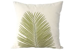 Buy Blueberry Home Cotton fabric Green color Cushion cover online
