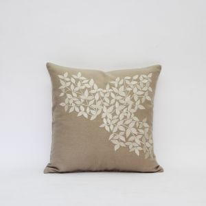 Buy Blueberry Home Cotton fabric Beige color Cushion cover online