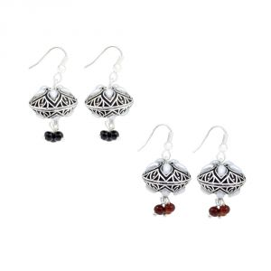 Buy Frabjous Combo Of Black, Brown Designer Jhumki Earring (product Code - Fbercmb-03) online