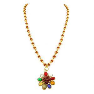 Buy Nirvanagems Navratna In Panchdhatu With Rudraksha Beads Necklace-nvg-030rf online