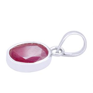 Buy Natural 6.30 Ct Certified Ruby Silver Pendant online