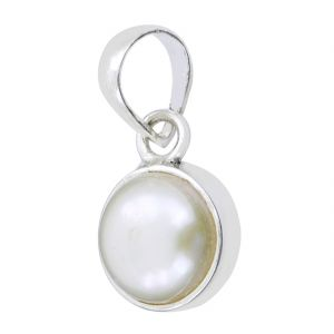 Buy 11.25 Ratti Certified White Pearl Silver Pendant online