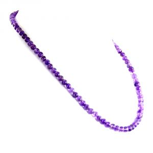 Buy Nirvanagems 5mm 18 Inches Amethyst Round Cabochon Beads Gemstone Necklace online