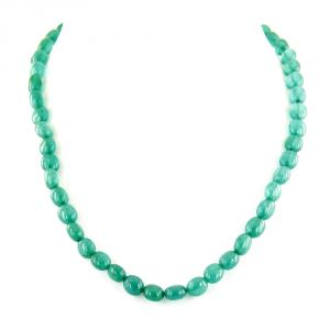 Buy Nirvanagems Natural 18 Inches 178 Ct Green Onyx Gemstone Necklace online