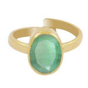Buy Nirvanagems Certified 7 Ct Panna Emerald Panchdhatu Adjustable Ring online