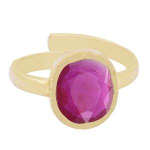 Buy Nirvanagems 4.25 Ratti Red Ruby Panchdhatu Adjustable Ring online