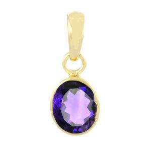 Buy Nirvanagems Natural Amethyst/kathela 5.25 Ratti Panchdhatu Gemstone Pendant online
