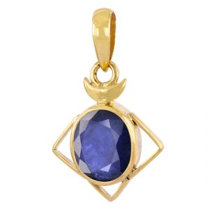 Buy Nirvanagems8 Ct Certified Blue Sapphire Panchdhatu Pendant For Shani online