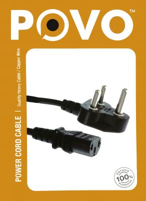 Buy Povo Power Cord For PC (t) 3mtr For PC / Desktop / Lan -305116 online
