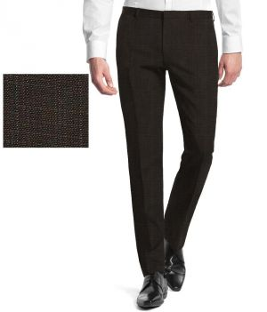 Buy Gwalior Suitings Brown Poly Blend Unstitched Pant PC online