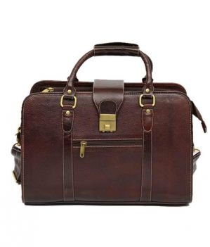 Buy Chanter Leather Brown Laptop Bag - Ea18 online