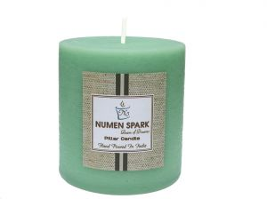 Buy Cucumber Cantaloupe Scented Rustic Pillar Candle (3 Inch X 3 Inch) online