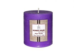 Buy True Lavender Scented Rustic Pillar Candle 3 Inch X 3 Inch