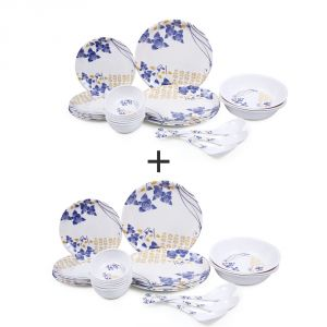 Buy Czar Combo Pack Of 2 (24 Pic Dinner Set-Multi) online