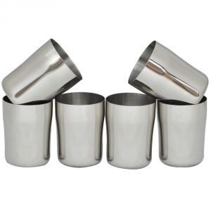 Buy Czar Stainless Steel Glass (Pack Of 6 Pcs) online