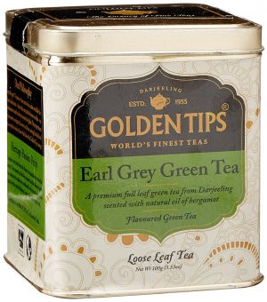 Buy Golden Tips Earl Grey Green Tea - Tin Can, 100g online