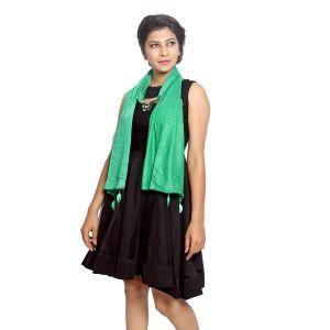Buy Grishti Women's Green Ornamental Stole 7star-green online