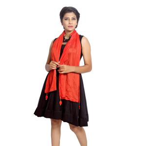 Buy Grishti Women'S Red Ornamental Stole online