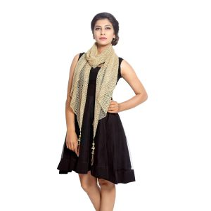 Buy Grishti Women's Golden Stole Gala-gold online