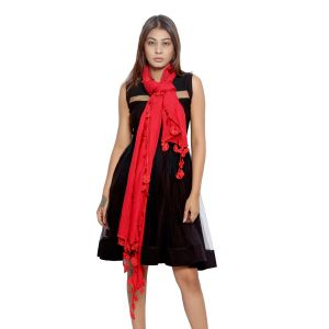 Buy Grishti Women's Red Scarf Gg16red-red online