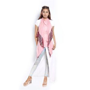 Buy Grishti Women's Black Shimmer Scarf Gg17pink-pink online