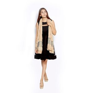 Buy Grishti Women's Fawn Gold Scarf With Lace Panel Gg3fawn-fawn online