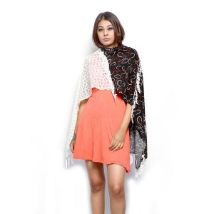 Buy Grishti Women's Vintage Lace Scarf Fossil4-multicolor online