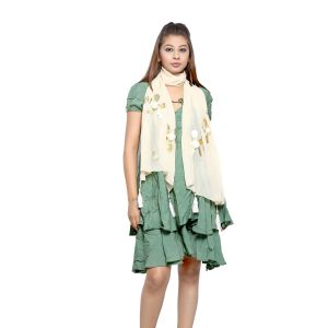 Buy Grishti Women'S Floral Fawn Scarf online