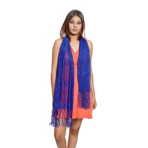 Buy Grishti Women'S Royal Blue Lace Stole online